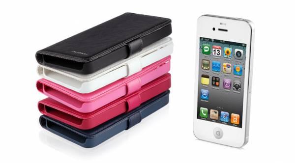 Bao da iPhone 5 mở ngang Nuoku Book 7