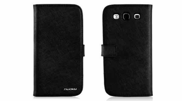 Bao da Samsung Galaxy S3 i9300 mở ngang Nuoku book 1