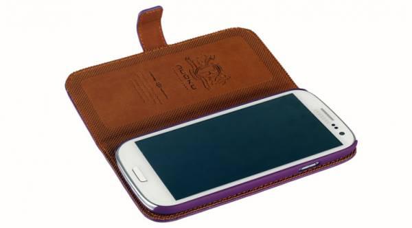 Bao da Samsung Galaxy S3 i9300 mở ngang Nuoku book 8