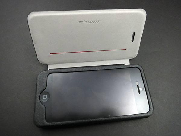 Bao da iPhone 5 mở ngang Uniq Porte chính hãng 2