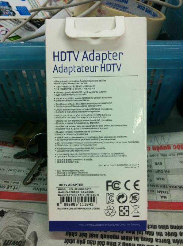 Cáp HDTV của Samsung Galaxy S3 2