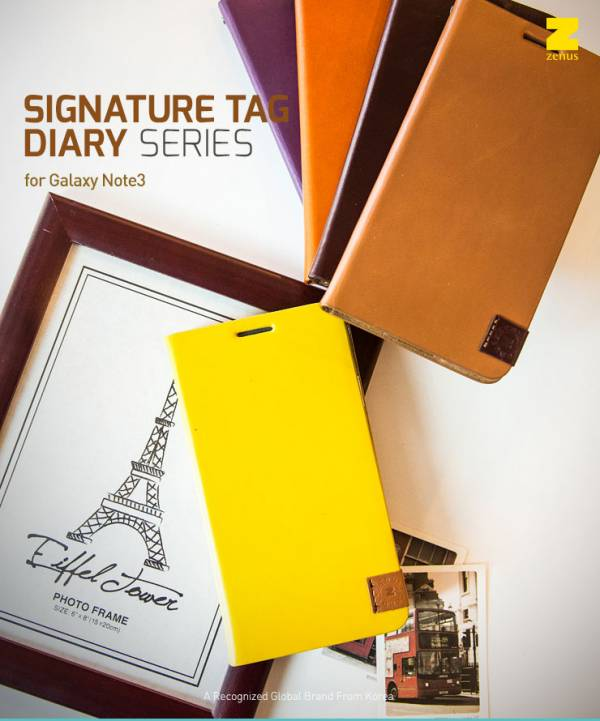 Bao da Samsung Galaxy Note 3 N9000 mở ngang Zenus Signature Tag Diary 1