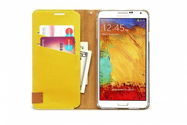 Bao da Samsung Galaxy Note 3 N9000 mở ngang Zenus Signature Tag Diary 3
