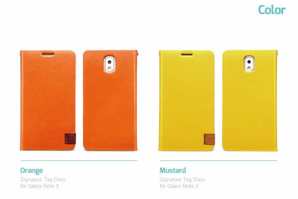 Bao da Samsung Galaxy Note 3 N9000 mở ngang Zenus Signature Tag Diary 4