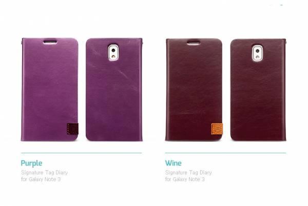 Bao da Samsung Galaxy Note 3 N9000 mở ngang Zenus Signature Tag Diary 5