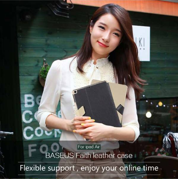 Bao da iPad Air thời trang Baseus Faith Leather 1