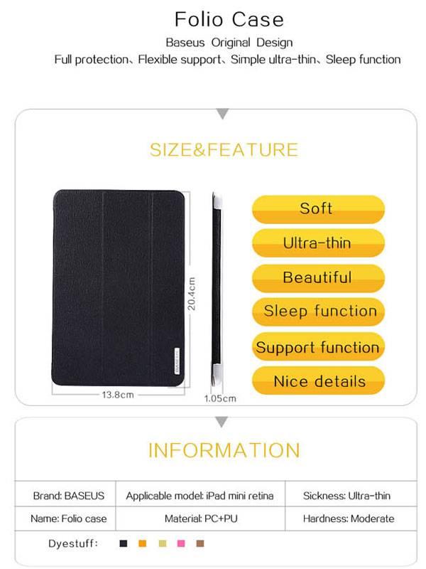Bao da iPad Air cao cấp Baseus Folio siêu mỏng 1