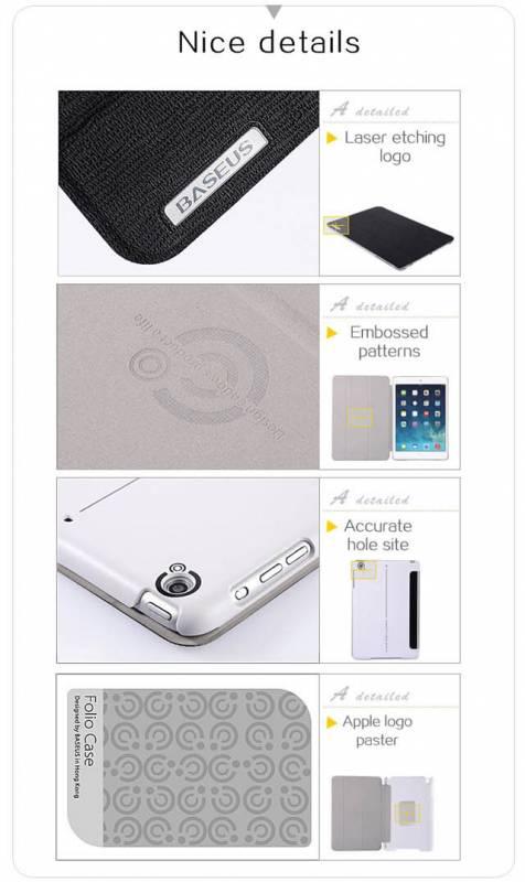 Bao da iPad Air cao cấp Baseus Folio siêu mỏng 7