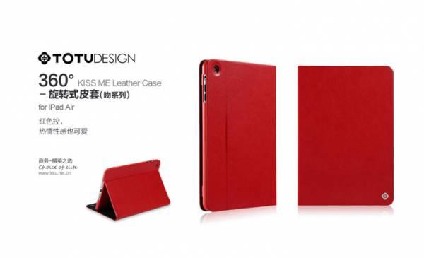 Bao da iPad Air xoay 360 độ Totu Kiss Me Leather Case 5