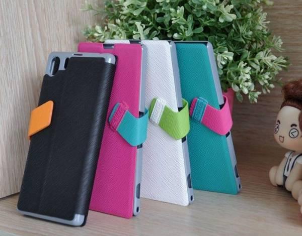 Bao da Xperia Z1 thời trang Baseus Faith Leather Case 2