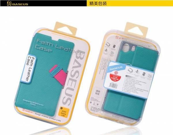 Bao da Xperia Z1 thời trang Baseus Faith Leather Case 5