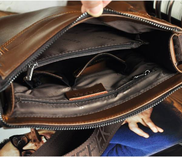Túi xách da nam đựng iPad Zefer kiểu 1 13