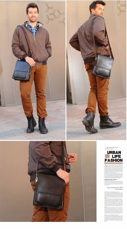 Túi xách da nam đựng iPad Zoro Paul kiểu 3 5