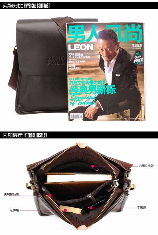 Túi xách da nam đựng iPad Zoro Paul kiểu 3 7
