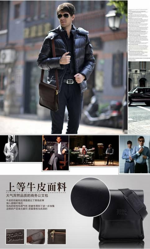 Túi xách da nam đựng iPad Zoro Paul kiểu 3 13