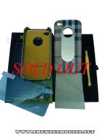 Ốp lưng iPhone 4 KingPad Burberry (màu be)