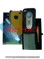 Ốp lưng iPhone 4 KingPad LV (nâu)