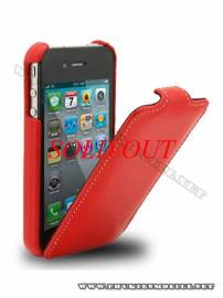 Phu kien iPhone - Bao da iPhone 4 Melkco Leather Case - Jacka Type (Màu đỏ)