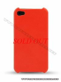 Phu kien iPhone - Ốp lưng iPhone 4 Melkco Leather Snap Cover màu đỏ