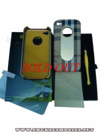 Phu kien iPhone - Ốp lưng iPhone 4 KingPad Burberry (màu be)