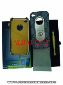 Phu kien iPhone - Ốp lưng iPhone 4 KingPad Gucci (màu ghi)