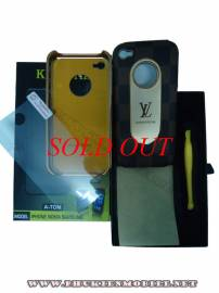 Phu kien iPhone - Ốp lưng iPhone 4 KingPad LV (nâu)