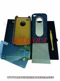 Phu kien iPhone - Ốp lưng iPhone 4 KingPad LV (ghi)