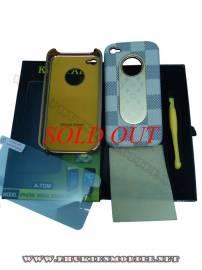 Phu kien iPhone - Ốp lưng iPhone 4 KingPad LV (ghi sáng)