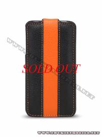 Phu kien iPhone - Bao da iPhone 4 Melkco Leather Case - Limited Edition Jacka Type (Black/Orange LC)