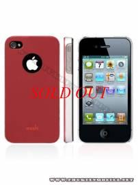 Phu kien iPhone - Ốp lưng iPhone 4 Moshi iGlaze 4 XT (Đỏ)