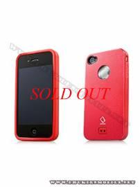 Phu kien iPhone - Ốp lưng iPhone 4 Capdase Alumor Metal Case (Đỏ)