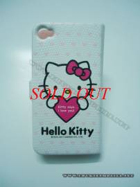 Phu kien iPhone - Bao da iPhone 4 Hello Kitty (Trắng)