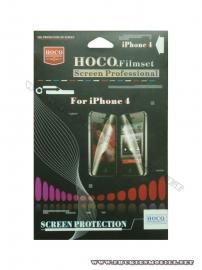 Phu kien iPhone - Miếng dán bảo vệ màn hình  iPhone 4 Hoco 2 mặt mờ (chống vân tay)