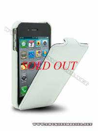 Phu kien iPhone - Bao da iPhone 4 Melkco Leather Case - Jacka Type Mầu trắng