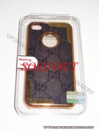 Phu kien iPhone - Ốp lưng iPhone 4 thời trang Plating ( Ghi Đen)