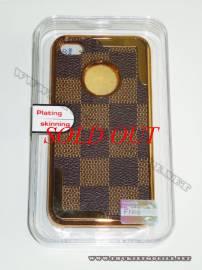 Phu kien iPhone - Ốp lưng iPhone 4 thời trang Plating ( Nâu Đen)