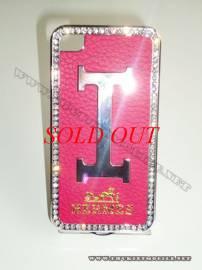 Phu kien iPhone - Ốp lưng iPhone 4 Hermes (Hồng)