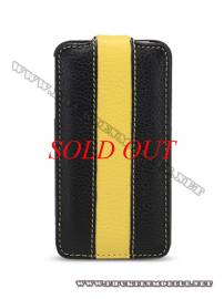 Phu kien iPhone - Bao da iPhone 4 Melkco Leather Case - Jacka Type (Đen/Vàng LC)