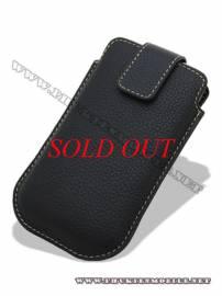 Phu kien iPhone - Bao cầm tay iPhone 4 Melkco Leather Case - Oto Holder Type màu đen