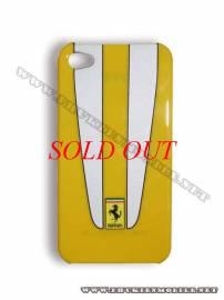 Phu kien iPhone - Ốp lưng iPhone 4 Ferrari Case nhựa màu vàng