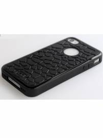 Phu kien iPhone - Ốp lưng iPhone 4 Hoco Leopard pattern crystal case
