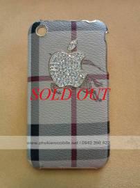 Phu kien iPhone - Ốp lưng cho iPhone 3G / 3GS đính đá Burberry