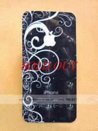 Phu kien iPhone - Miếng dán lưng, viền 3D thời trang cho iPhone 4 / 4S
