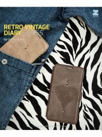 Phu kien iPhone - Bao da Samsung Galaxy Note 3 N9000 Zenus Retro Vintage Diary